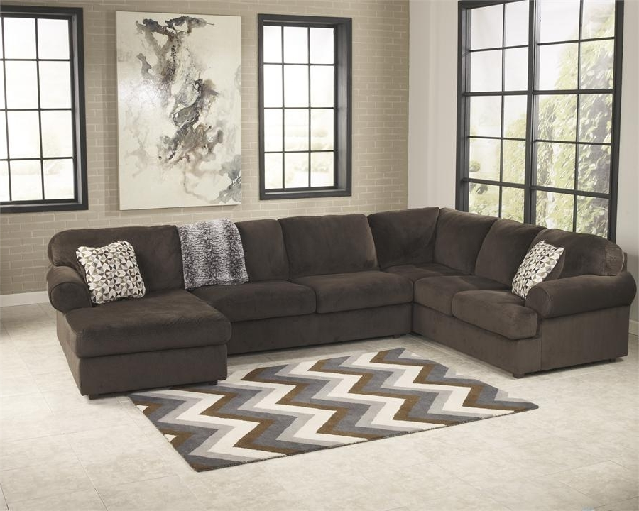 Latest Jessa Place Chocolate Right Arm Facing Chaise Sectionalashley Within Right Facing Chaise Sectionals (View 14 of 15)