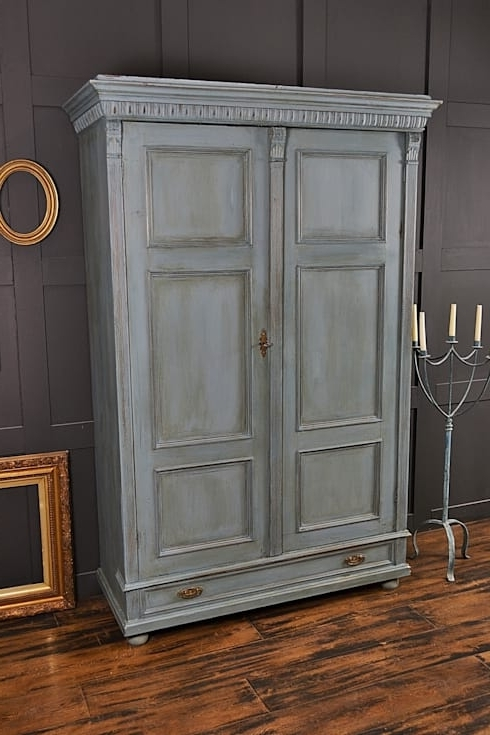 Latest Large Shabby Chic Blue Antique Wardrobethe Treasure Trove With Regard To Large Shabby Chic Wardrobes (View 11 of 15)