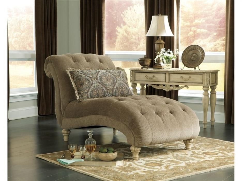Latest Living Room : Beautiful Chaise Lounge Indoor Chair With Yellow With Damask Chaise Lounge Chairs (View 10 of 15)