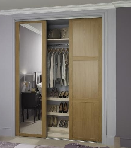 Latest Oak Mirrored Wardrobes Within Shaker Panel Door Oak With Shaker Mirror Door Oak (View 5 of 15)
