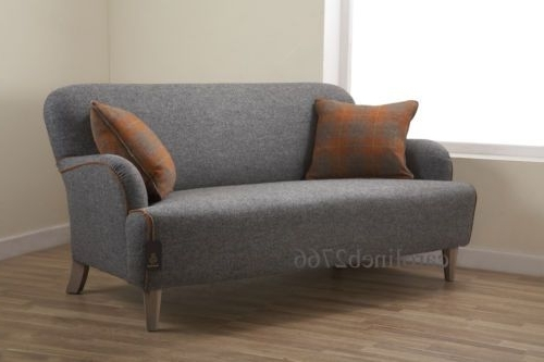 Latest Roche Bobois Cardamone Harris Tweed Grey Fabric Sofa (View 4 of 10)