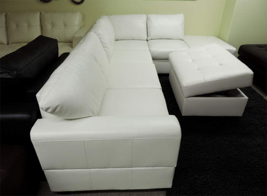 Latest Sacramento Sectional Sofas In Sacramento White Cream Leather Sectional Sofa With Left Facing (View 4 of 10)