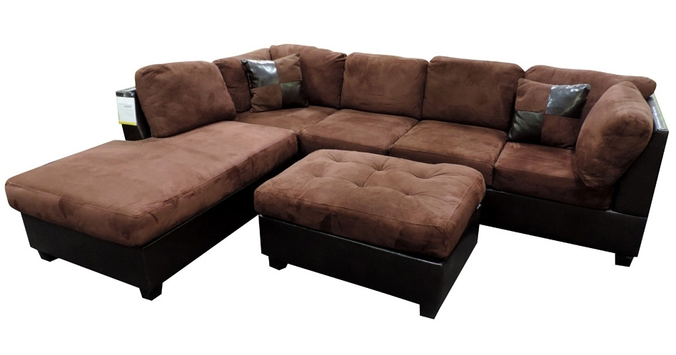 Latest Sacramento Sectional Sofas Pertaining To Sacramento Chocolate Sectional Sofa With Left Facing Chaise At (View 2 of 10)