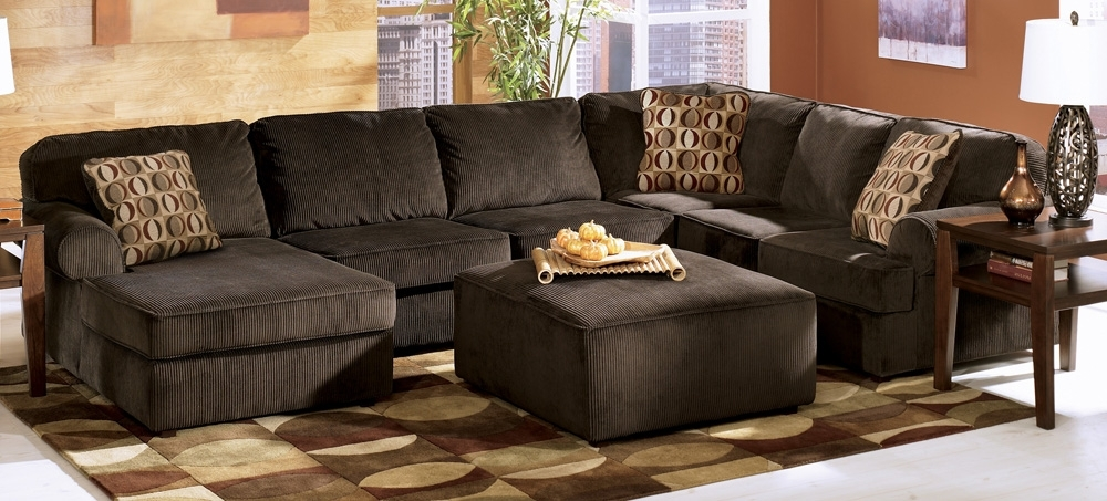 Latest Sectionals With Oversized Ottoman For Vista Chocolate Large Sectionalashley Furniture – Tenpenny (View 1 of 10)