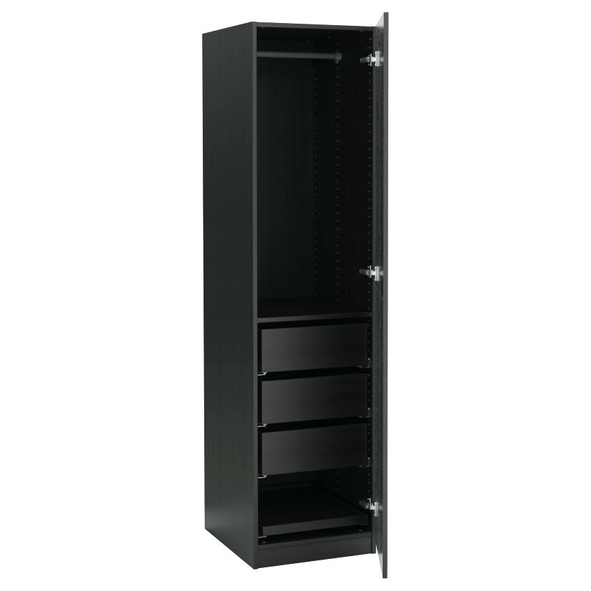 Latest Single Black Wardrobes Regarding Wardrobes ~ Single Door Wardrobe With Mirror 61 Unique Decoration (View 6 of 15)