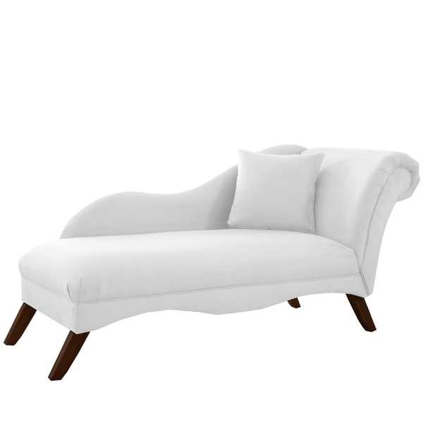 Latest Skyline Furniture Chaise Lounge In Velvet White – Free Shipping For Overstock Chaise Lounges (View 7 of 15)