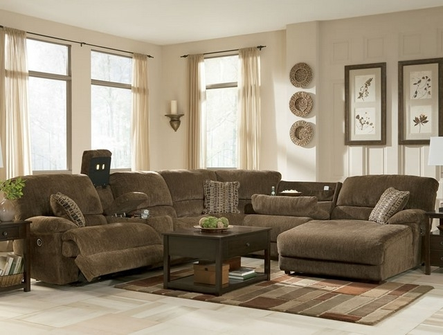 Latest Sofa Beds Design: Marvellous Traditional Reclining Sectional Sofas With Regard To Brown Sectionals With Chaise (View 10 of 15)