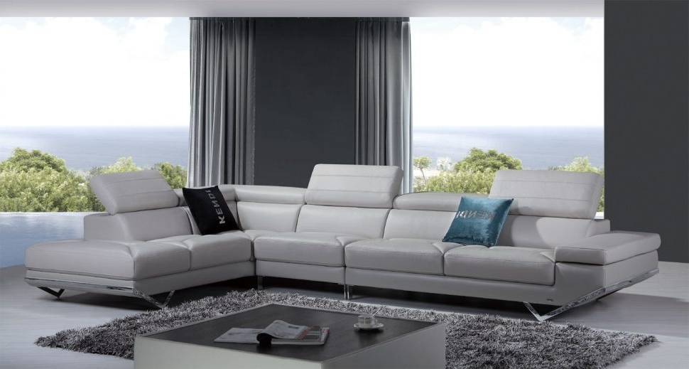Latest Sofa : Sofaalian Leather Sectional Casa Quebec Modern Light Grey Regarding Quebec Sectional Sofas (View 4 of 10)
