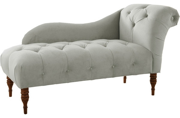 Latest Upholstered Chaise Lounges Intended For Beautiful Chaise Lounge Chairs Indoor Tufted Upholstered Chaise (View 4 of 15)