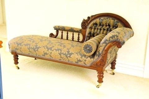 Latest Vintage Chaise Lounge Chairs Regarding Antique Chaise Lounge Sofa Bed Vintage Outdoor Chaise Lounge (View 8 of 15)
