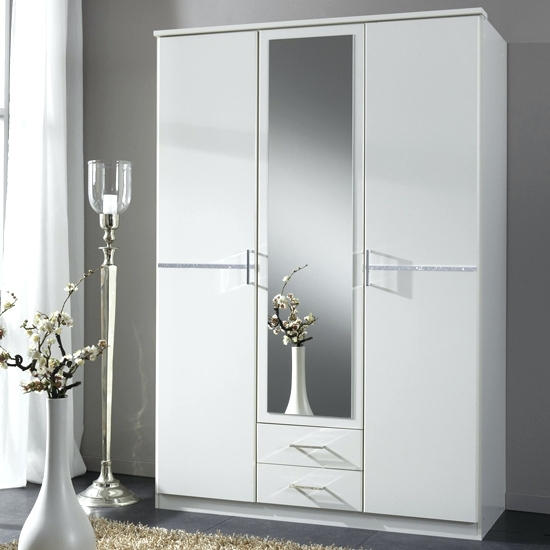 Latest Wardrobes ~ Tall White High Gloss Wardrobes Tall White Gloss With Tall White Wardrobes (View 6 of 15)