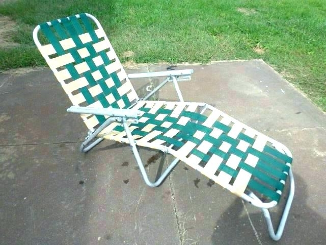Latest Web Chaise Lounge Lawn Chairs Intended For Appealing Vintage Aluminum Folding Lawn Chair – Novoch (View 5 of 15)