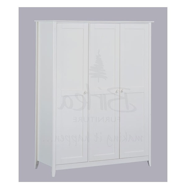 Latest White Cheap Wardrobes Intended For Cheap Birlea Cotswold 3 Door Ivory Wardrobe For Sale At Cheapest (View 9 of 15)