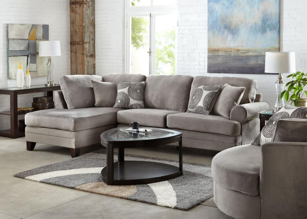 Latest Zoey 2 Pc Laf Sectional Grey – Sectionals – Living Room With Home Zone Sectional Sofas (View 8 of 10)