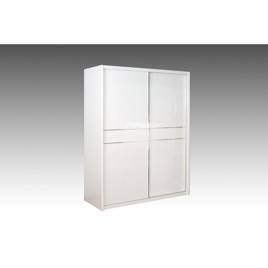 Laura 2 Door Sliding Wardrobe With Gloss Doors 9086 Pertaining To Latest White High Gloss Sliding Wardrobes (View 2 of 15)