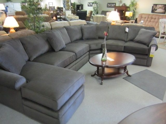 Lazy Boy Sectional Sofa Intended For Entranching La Z Collins Home Throughout Fashionable Lazyboy Sectional Sofas (View 4 of 10)