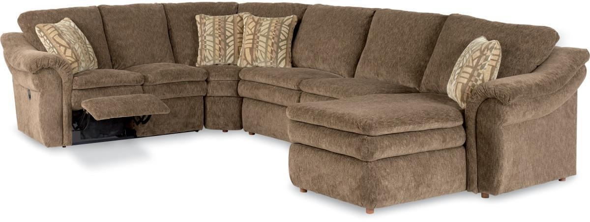 Lazy Boy Sectional Sofas With 2018 4 Piece Reclining Sectional Sofa With Ras Chaisela Z Boy (Gallery 1 of 10)