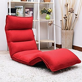 Lazy Sofa Chairs In Well Known Amazon: Merax Upholstered Lazy Sofa Floor Sofa Chair Folding (View 3 of 10)