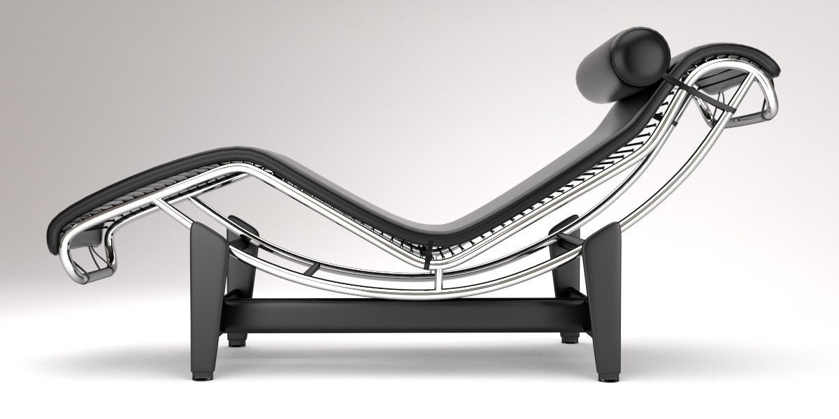 Lc4 Chaise Lounge Designle Corbusier 3d Model Blend In Most Current Le Corbusier Chaises (View 8 of 15)