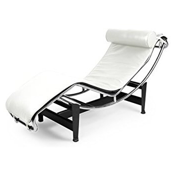 Lc4 Chaise Lounges Inside Most Up To Date Amazon: Kardiel Le Corbusier Style Lc4 Chaise Lounge, Cream (View 6 of 15)