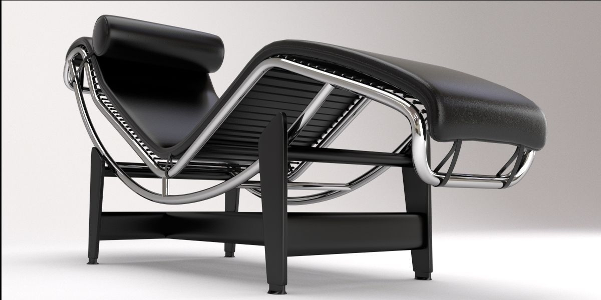 Lc4 Chaise Lounges Pertaining To Recent Lc4 Chaise Lounge Designle Corbusier 3D Model Blend (View 7 of 15)