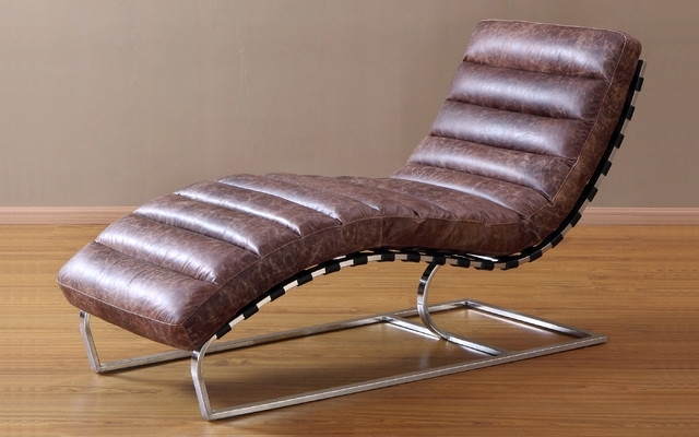 Leather Chaise Lounge Chair Modern Fresh Best 23849 Within 19 Pertaining To Latest Leather Chaise Lounge Chairs (View 4 of 15)