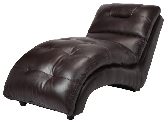 Leather Chaise Lounge Chair Stylish Bonners Furniture Regarding 15 Throughout Widely Used Leather Chaise Lounge Chairs (View 5 of 15)