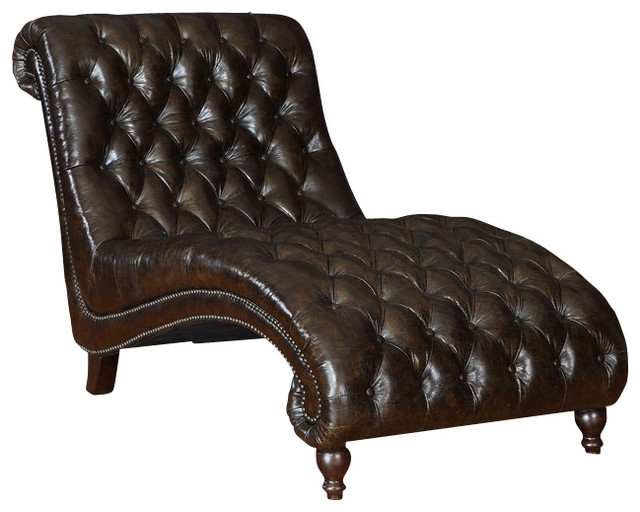 Leather Chaise Lounge Chairs For Most Popular Fabulous Leather Chaise Lounge Chair Princess Tufted Leather (View 6 of 15)