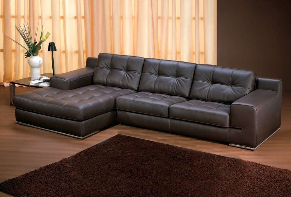 Leather Chaise Lounge Sofas Regarding Favorite Leather Chaise Lounge Sofa – Visionexchange (View 9 of 15)