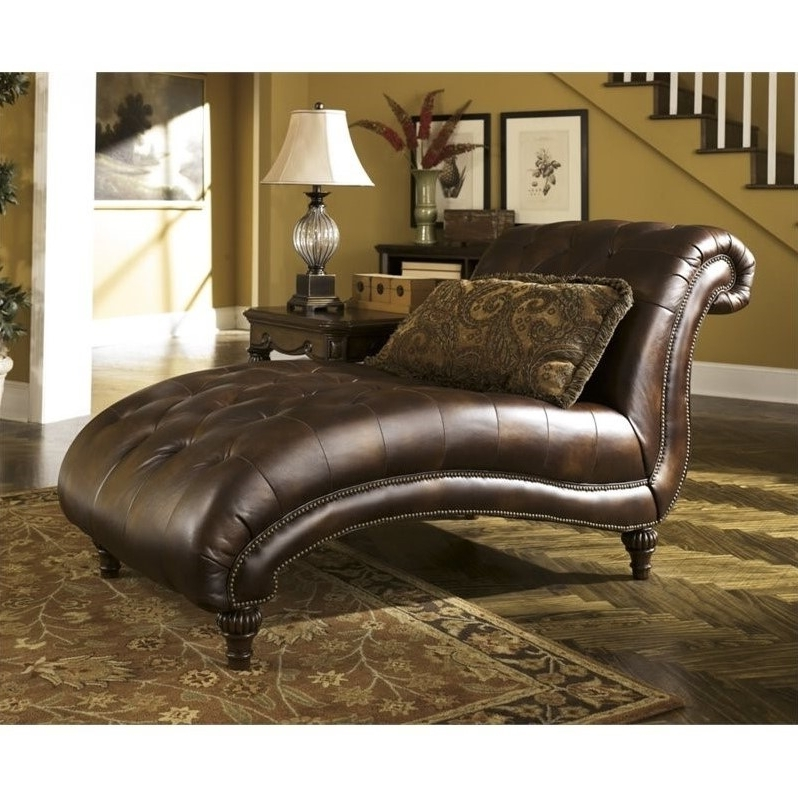 Leather Chaise Lounges Throughout Most Up To Date Madison Home Usa Premium Bonded Leather Stretch Chaise Lounge (View 9 of 15)