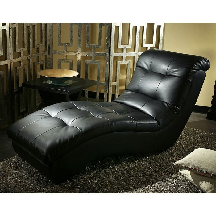 Leather Chaise Lounges Within Current Black Leather Chaise Lounge (View 12 of 15)