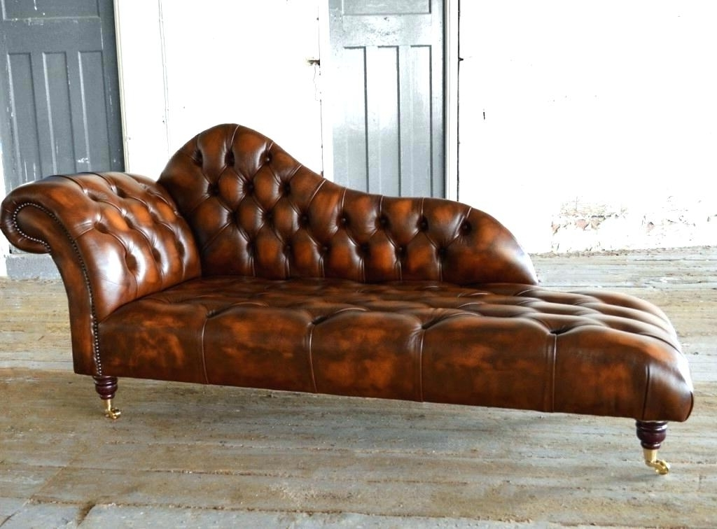 Leather Chaise Lounges Within Most Up To Date Brown Leather Chaise Lounge Chair Chaise Leather Lounge Brown (View 13 of 15)
