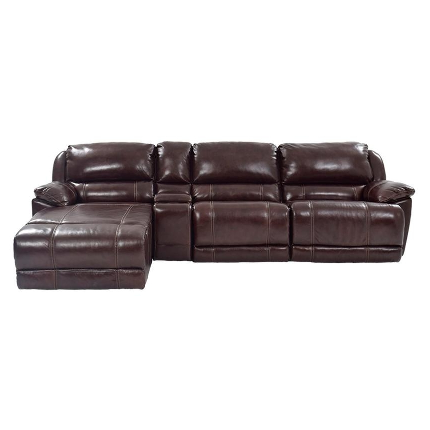 Leather Chaise Sofas Within 2017 Theodore Brown Power Motion Leather Sofa W/right Chaise (View 8 of 15)