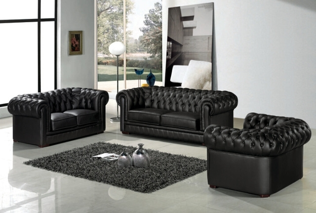 Leather Chesterfield Sofa For Modern Sofa Set For Living Room Sofa Regarding Latest Chesterfield Sofas And Chairs (View 8 of 10)