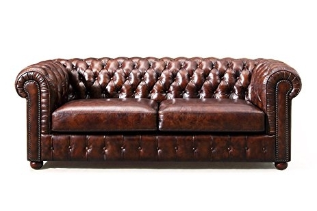 Leather Chesterfield Sofas Pertaining To Widely Used Amazon: Original Chesterfield Leather Sofarose & Moore (View 6 of 10)