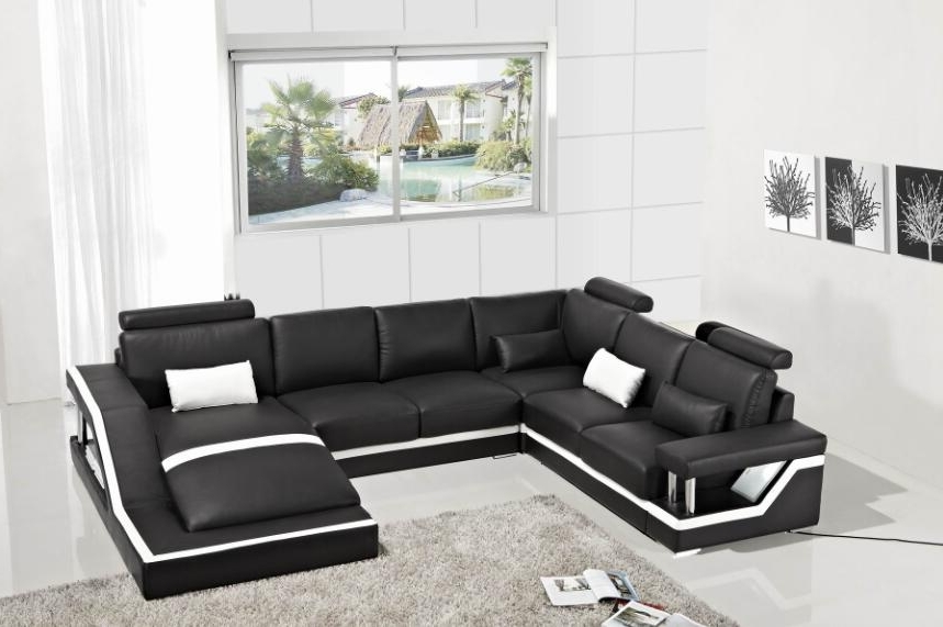 Leather Corner Sofas For 2018 Leather Corner Sofas With Genuine Leather Sectional Sofa Modern (View 4 of 10)