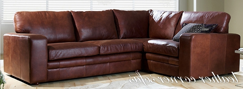 Leather Corner Sofas Regarding 2018 Leather Corner Sofas, Buy A Leather Corner Sofa (View 5 of 10)