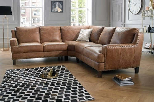 Leather Corner Sofas Regarding Best And Newest Great Leather Corner Sofa With Corner Sofas In Leather Fabric (View 6 of 10)