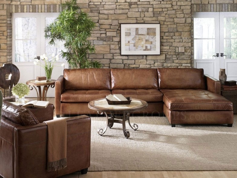 Leather Couches With Chaise Pertaining To Best And Newest Arizona Leather Sectional Sofa With Chaise – Top Grain Aniline (View 3 of 15)