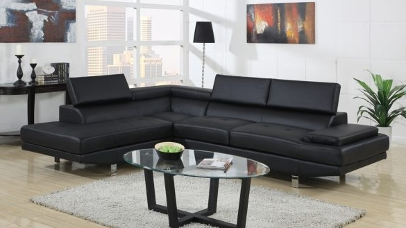 Leather Modern Sectional Contemporary Appealing Black Sofa Casa Pertaining To 2018 Sectional Sofas At Chicago (View 3 of 10)