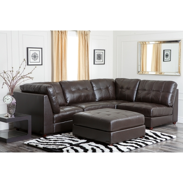Leather Modular Sectional Sofas Pertaining To 2017 Modular Sectional Sofa Leather (View 7 of 10)