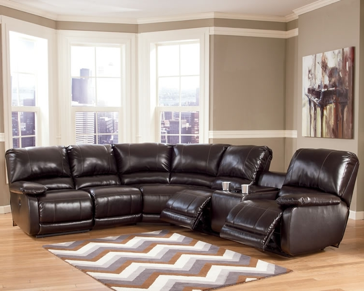Leather Recliner Sectional Sofas With Regard To 2017 Sectional Sofa Design: Sectional Sofa Recliners 4 Recliner (View 2 of 10)