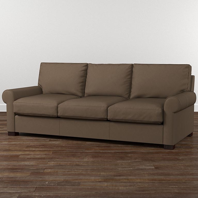 Leather Scarborough Tan Great Room Sofa With Most Up To Date Scarborough Sectional Sofas (View 2 of 10)