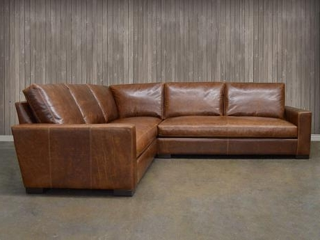Leather Sectional: Braxton Mini Leather L Sectional Sofa Regarding 2017 Braxton Sectional Sofas (View 6 of 10)