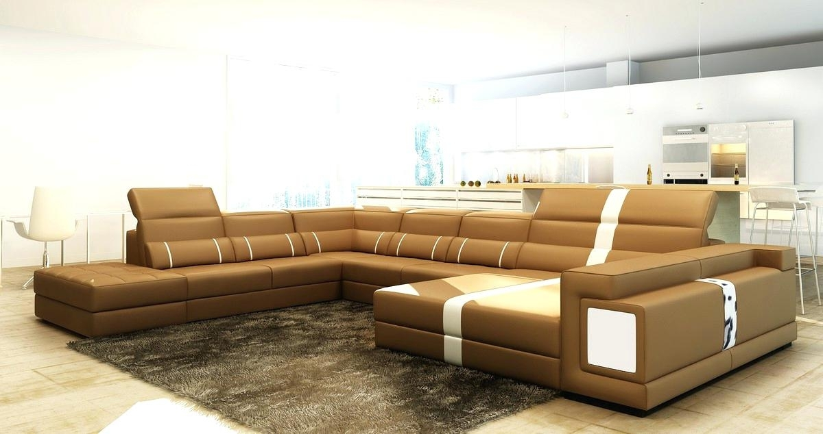 Leather Sectional Sofas Chocolate Brown Leather Sectional Sofa Intended For Latest Memphis Tn Sectional Sofas (View 1 of 10)