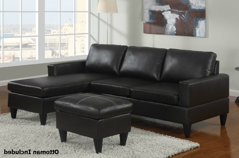 Leather Sectional Sofas With Ottoman Intended For Well Liked Black Leather Sectional Sofa And Ottoman – Steal A Sofa Furniture (View 5 of 10)