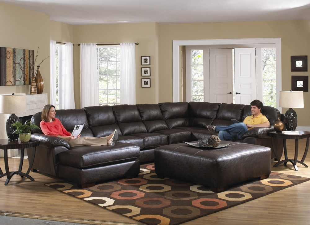 Leather Sectionals With Chaise Inside Fashionable Jackson Lawson Sectional Chaise Sofa 4243 62/4243 30/4243 76/ (View 7 of 15)