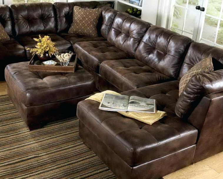 Leather Sectionals With Ottoman Pertaining To Well Known Sectional With Ottoman And Chaise Large Size Of Fabric Chaise (View 5 of 10)