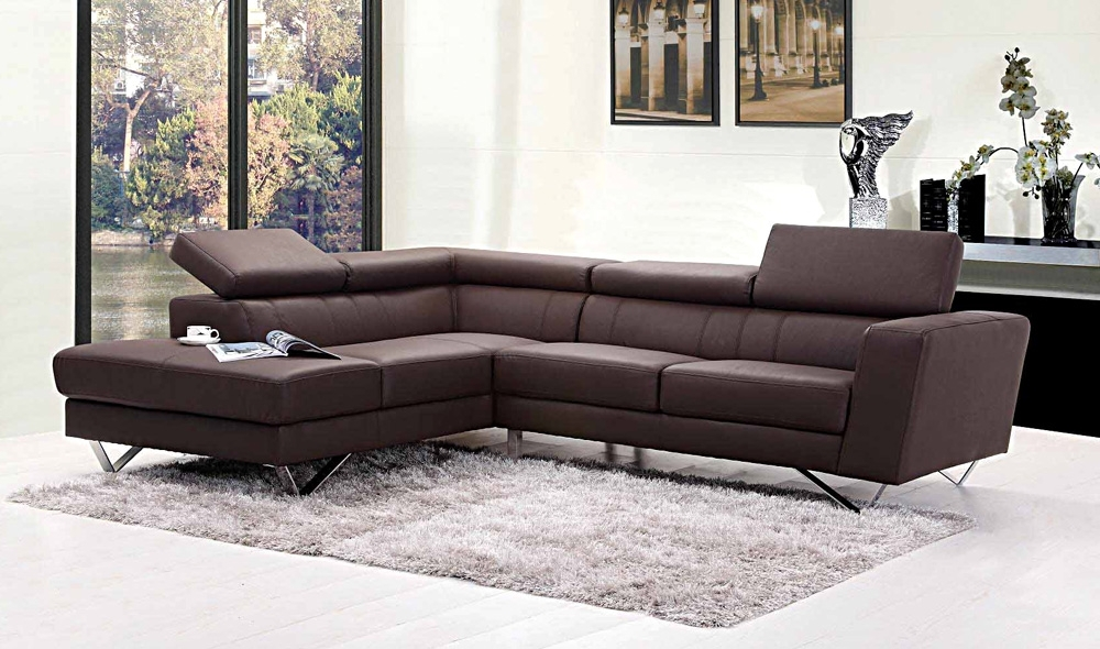 Leather Sectionals Within Popular L Shaped Sectional Sofas (View 2 of 10)