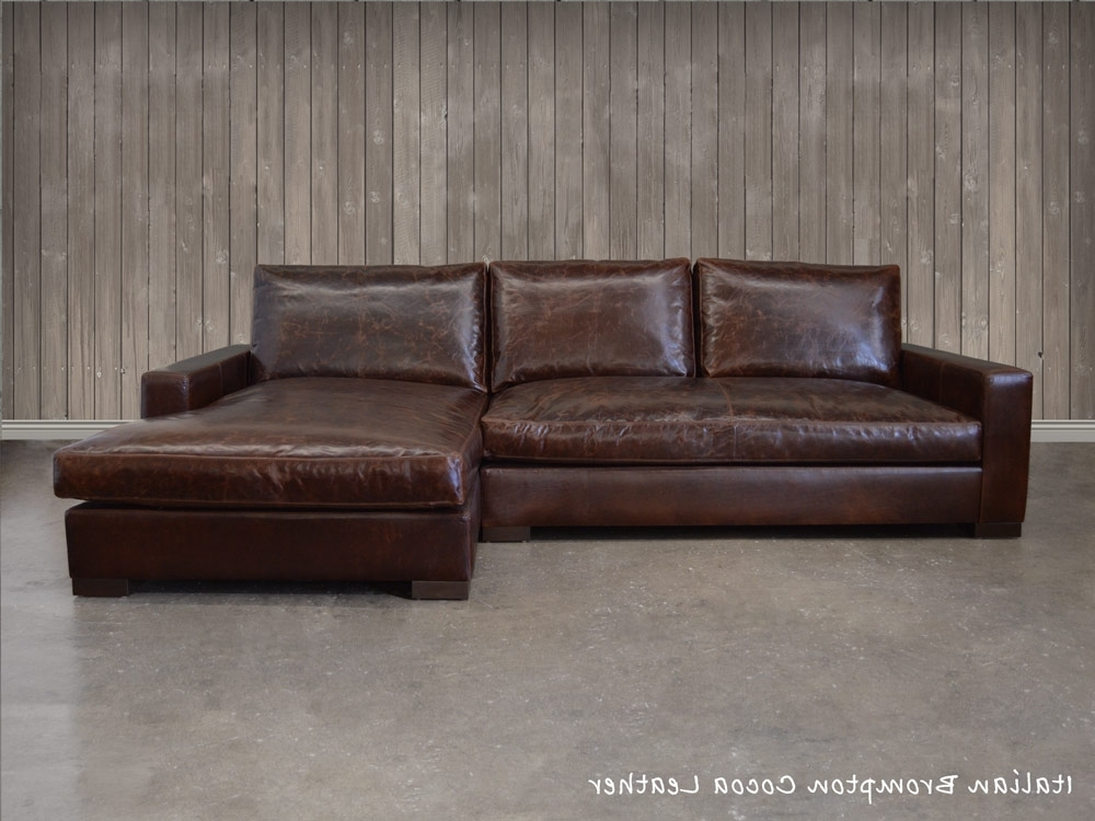 Leather Sofas With Chaise Inside Most Popular The Braxton Leather Sofa Chaise Sectional (Shown Here In Italian (View 9 of 15)